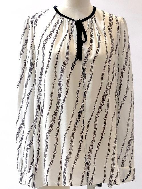 Marella  pure silk chain print blouse.