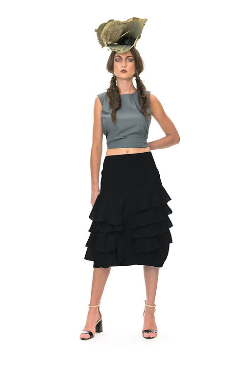 Megan Salmon muslin Samba skirt