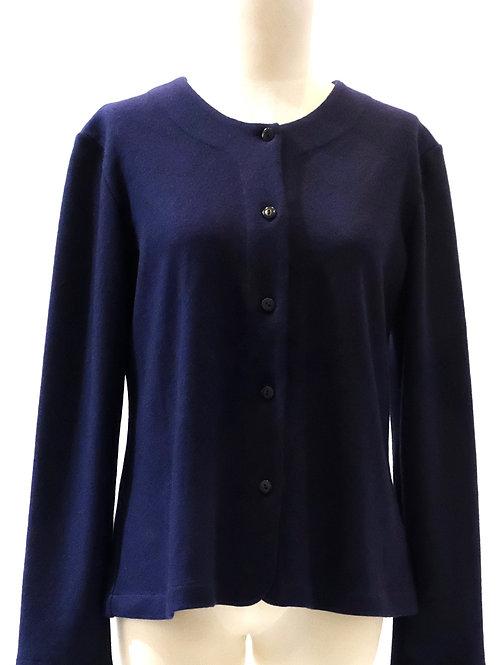 Megan Salmon pure wool jersey button through cardigan.