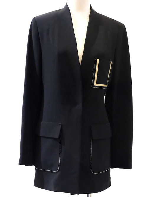 Beatrice B boxy black long line jacket.