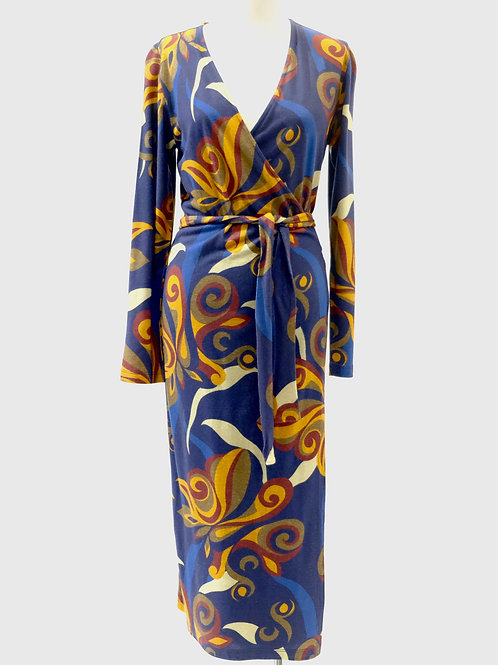 Nice Things paisley print wrap dress