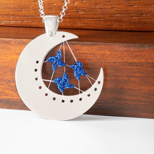 Colgante Luna Azul Cadena