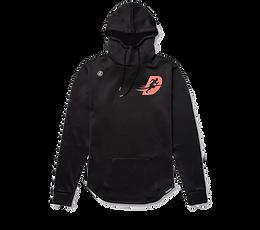 Black/ coral Hawthorne hoodie