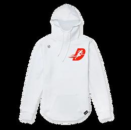 White/scarlet Hawthorne hoodie
