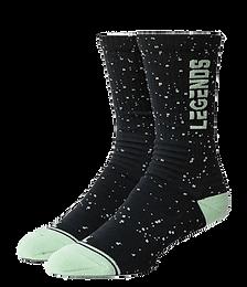 Vertical splatter Sock