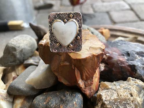 Buffalo Turquoise Heart Ring