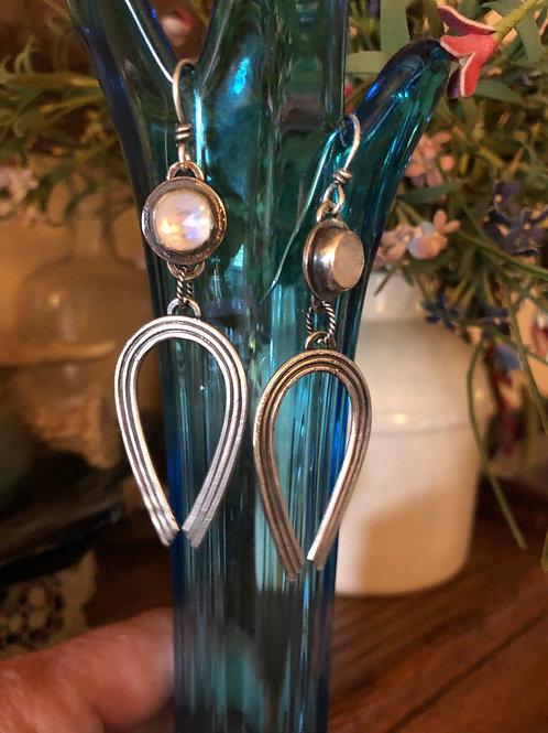 Rainbow Moonstone Rainbow Earrings