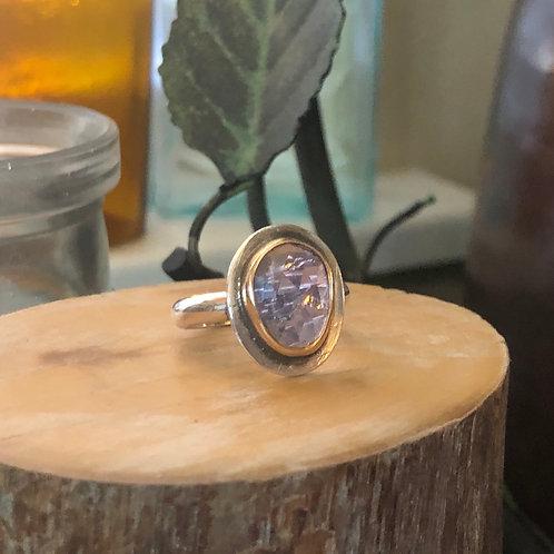 Tanzanite Mixed Metal Ring
