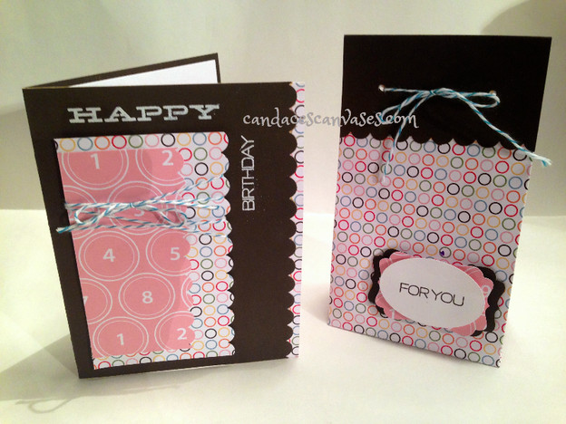 Scrappy Wednesday: Coordinating Card & Gift Bag From Scraps