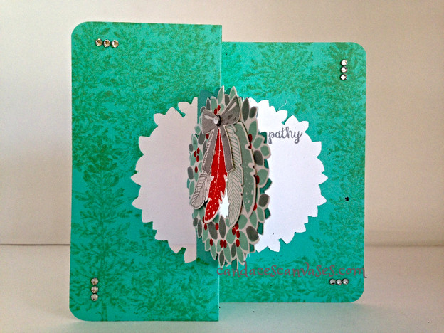 Cards! Cards! Monday: Wonderous Wreath and Four Feathers Sympathy Flip Card