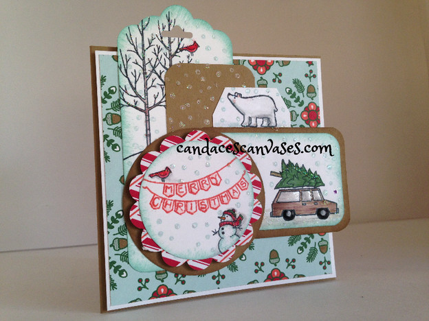 Cards! Cards! Monday: White Christmas Layered Square Card