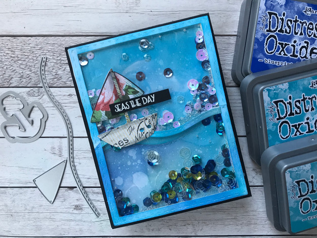 The Stamps of Life: Sailboat2Stamp Shaker Card