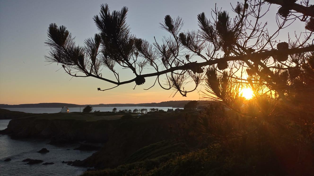 s la vue au coucher du soleil