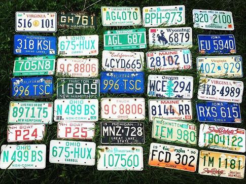 License Plate Decor