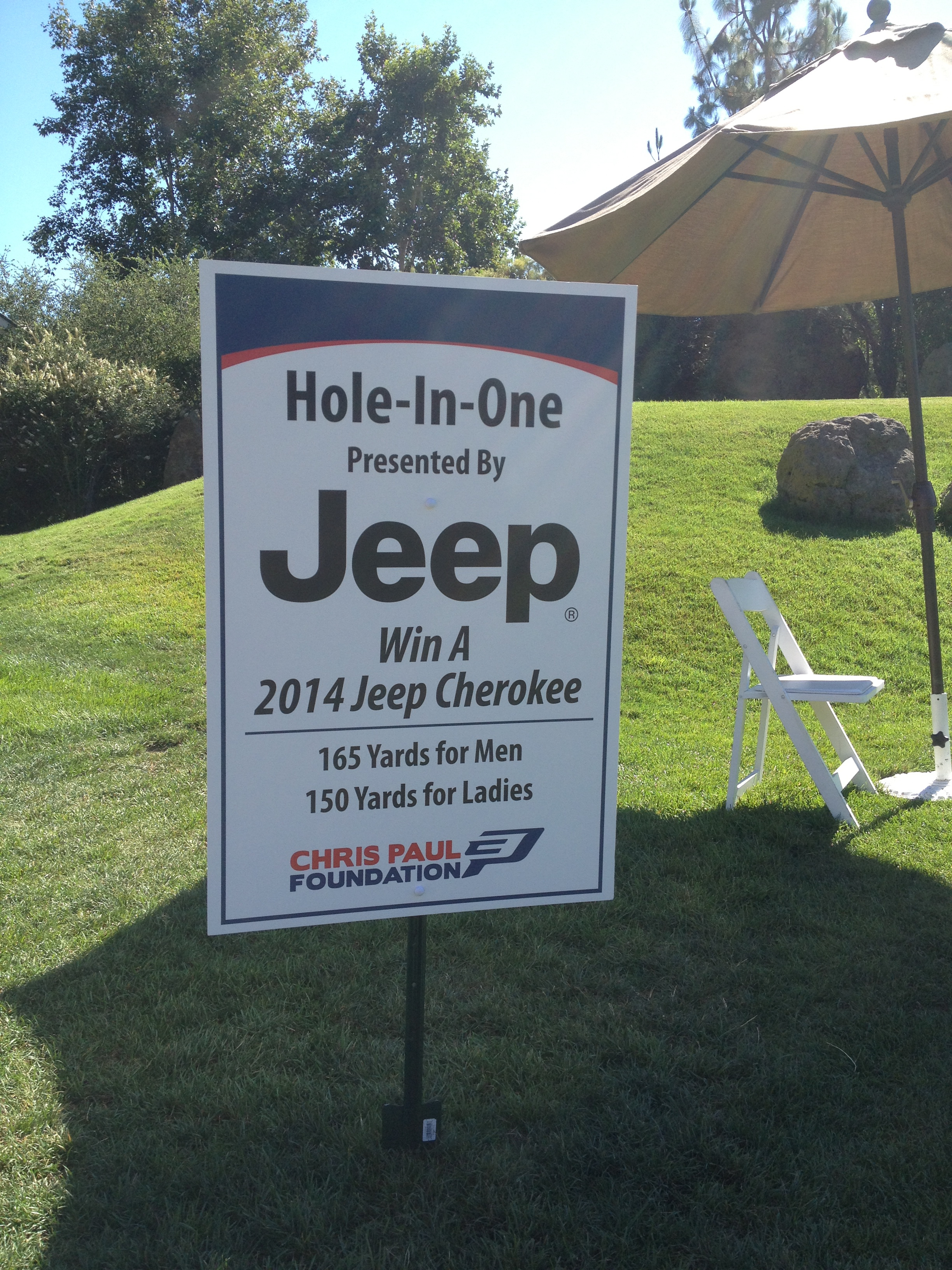 Hole In One Prize Sign