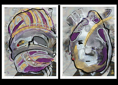 Portrait1and2_11x8.5_Latex.OilPastel.Ink