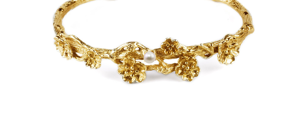 Bracelet Cherry blossom girl orné d'une véritable perle d'eau douce