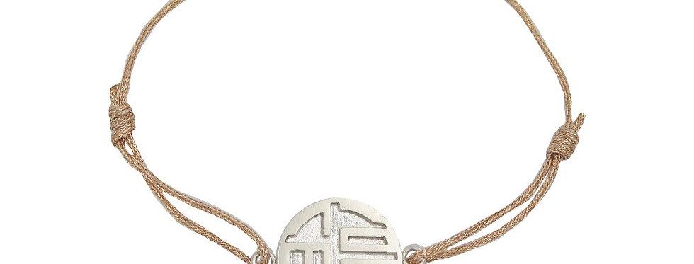 Bracelet Chine, Les 3 étoiles du bonheur - FU (bonheur)