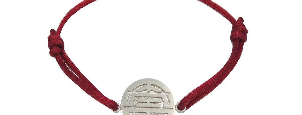 Bracelet Chine, Les 3 étoiles du bonheur - SHOU (longévité)