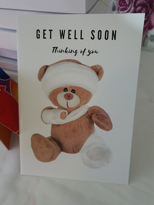 Thinking of you, get well soon card