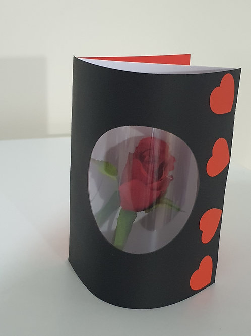 Valentine day hearts and roses card