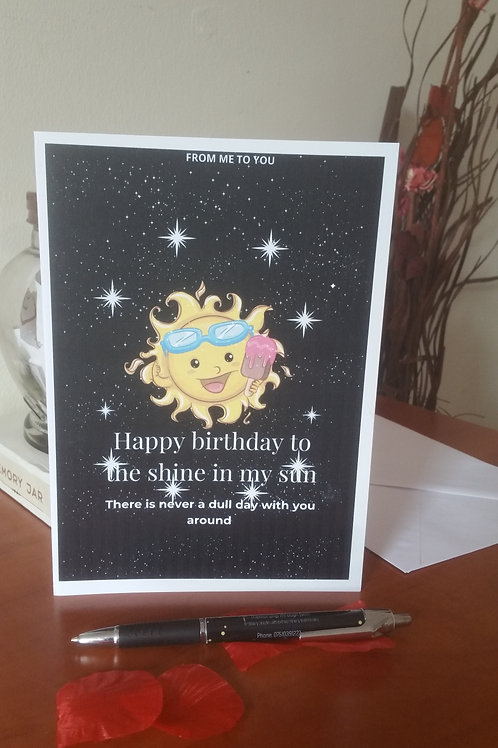 Custom/personalised birthday card, cards for son, card for daughter, gift ideas,