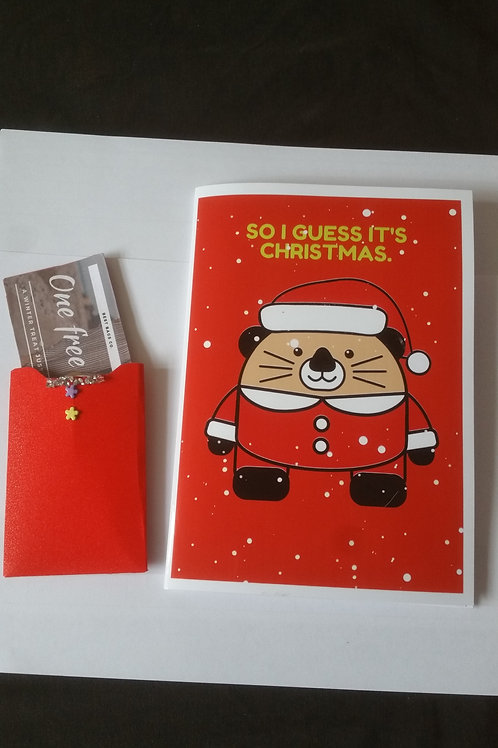 I guess it's Christmas card with gift card holder, gift ideas