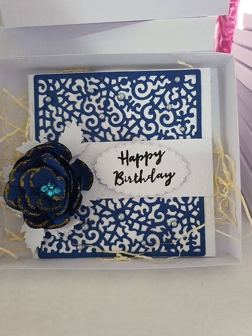 Happy birthday stamped card for her