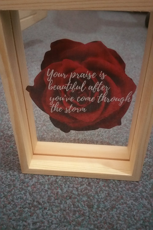 Double side glass motivational picture frame