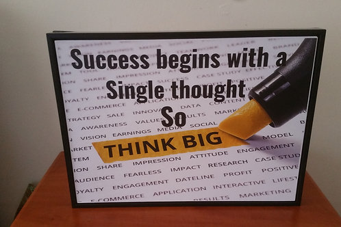 Think big canvas picture