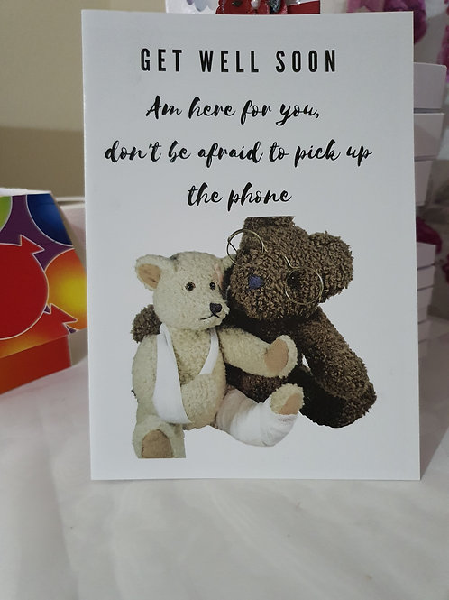 Am here for you, get well soon card