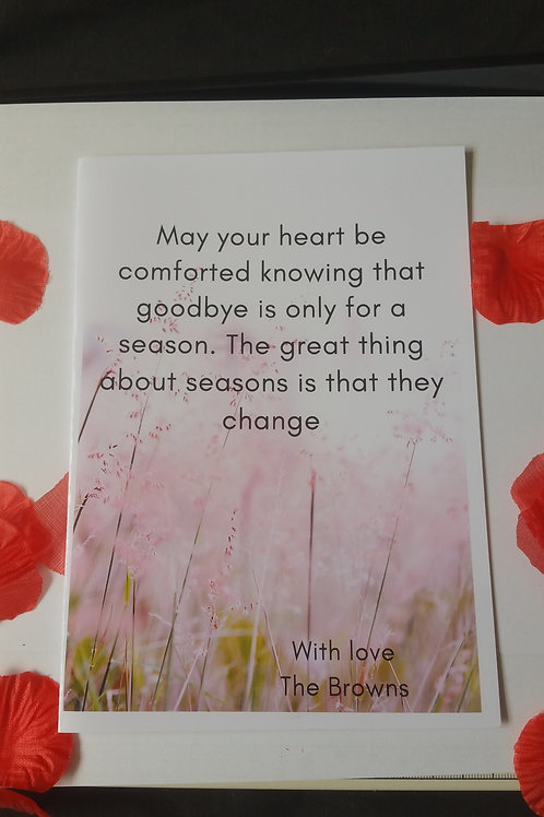 Sympathy cards, may your heart be comforted card