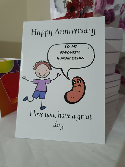 Funny happy anniversary card