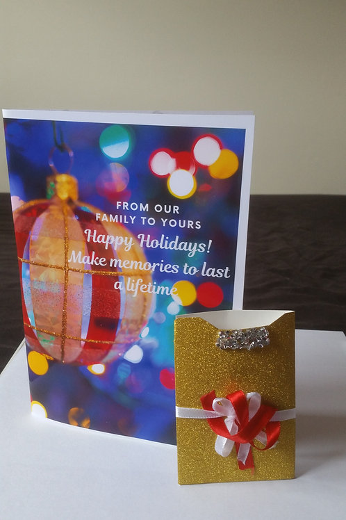 Christmas cards with gift card holder