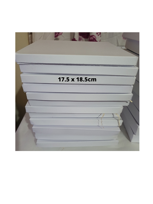 Handmade plain white boxes, branded boxes, birthday box, greeting card b