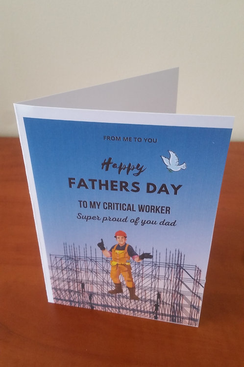 construction worker fathers day card
