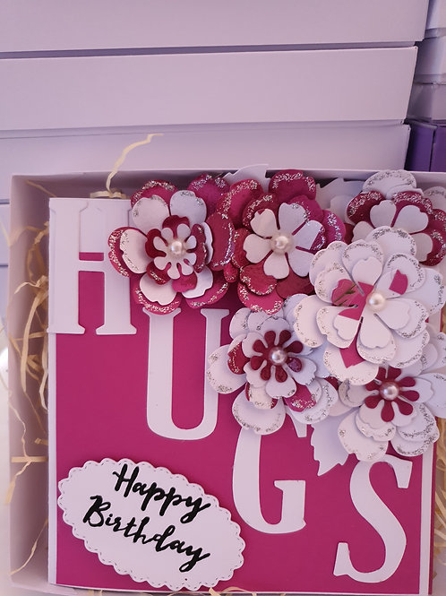 Happy birthday stamped card, card for her