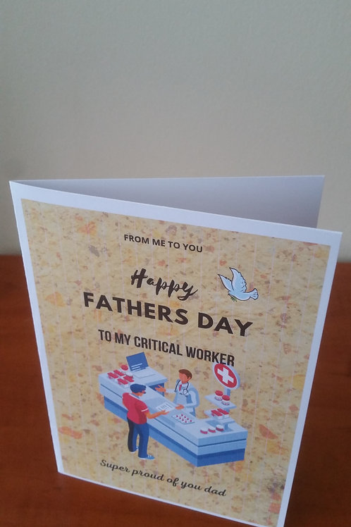Pharmacy worker fathers day card