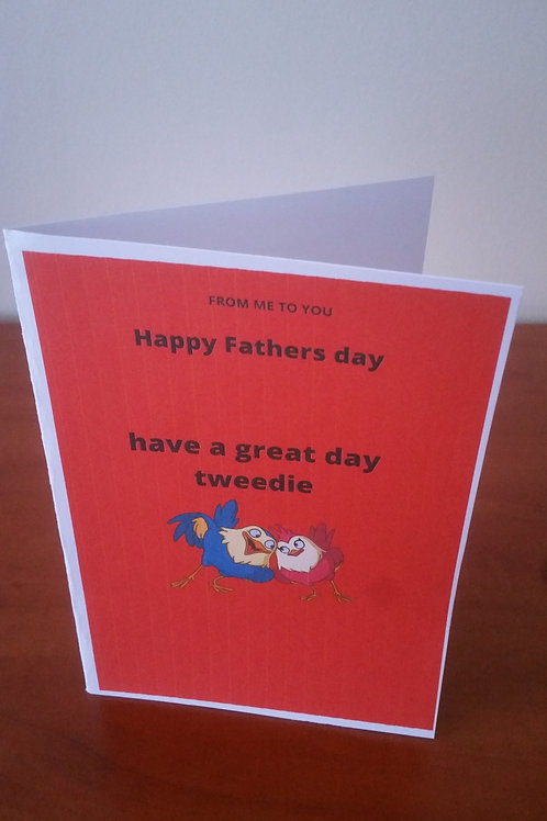 Have a great day tweedie fathers day card