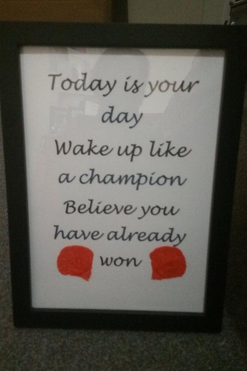 Wake up an win frame