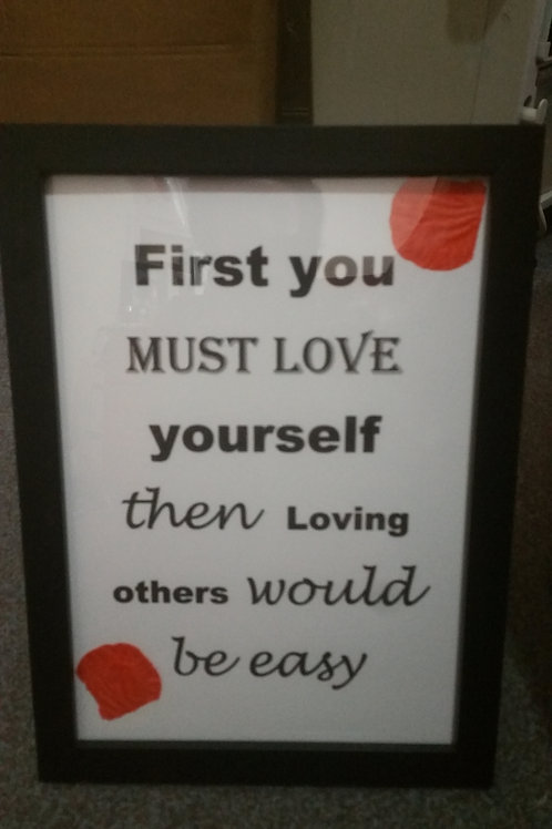 First you must love yourself