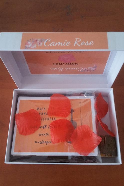 Motivation cards orange box