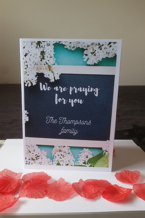 Sympathy cards, praying for you
