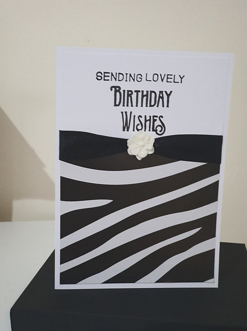 Animal print, birthday wishes, card for her