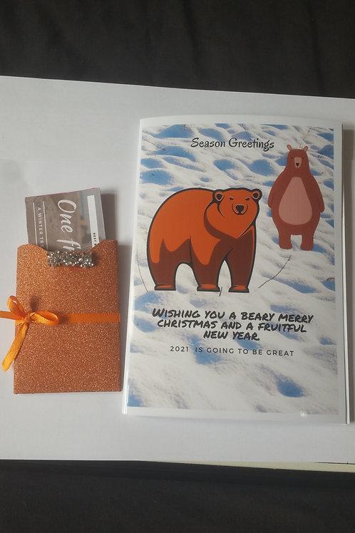 Beary merry Christmas card with gift card holder, Christmas ideas