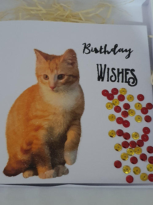 Birthday card, embossed card for her