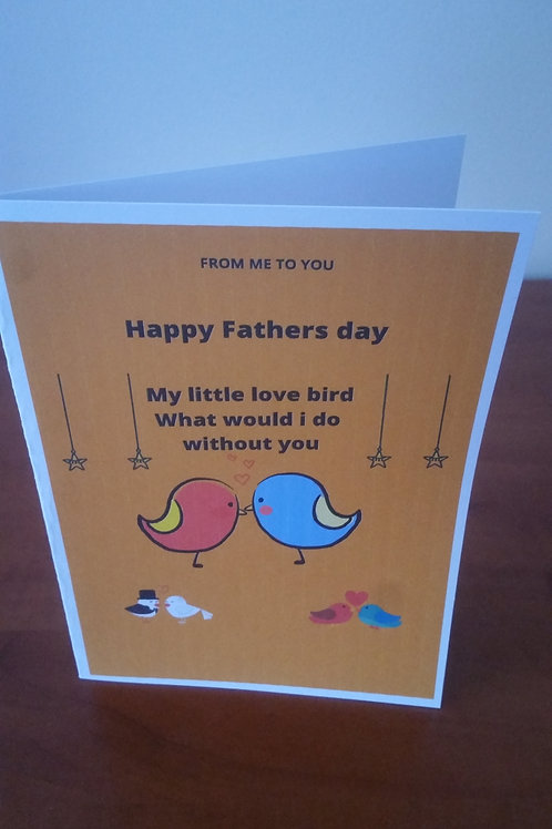 Wife to husband love bird fathers day card