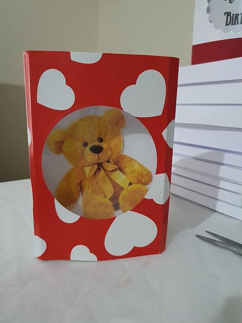 Happy birthday teddy bear dome card