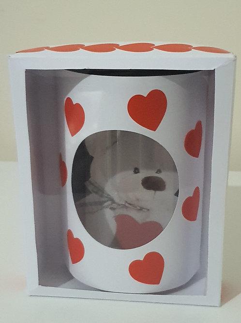 Happy Valentine teddy bear dome card