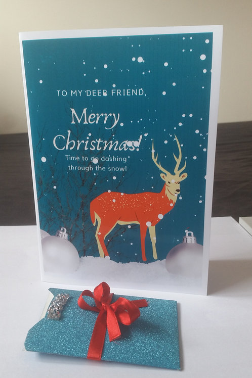 Christmas cards with gift card holder, friendship card